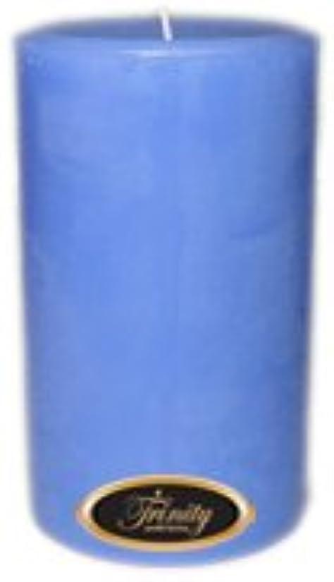 実証する民主党そうTrinity Candle工場 – ベビーパウダー – ブルー – Pillar Candle – 4 x 6
