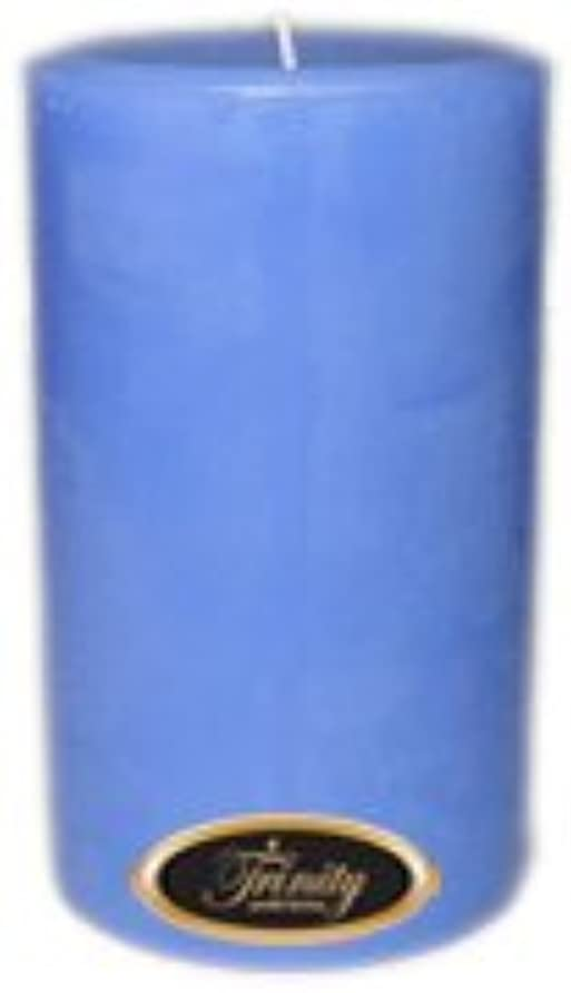かすかなダーリン旅行者Trinity Candle工場 – ベビーパウダー – ブルー – Pillar Candle – 4 x 6