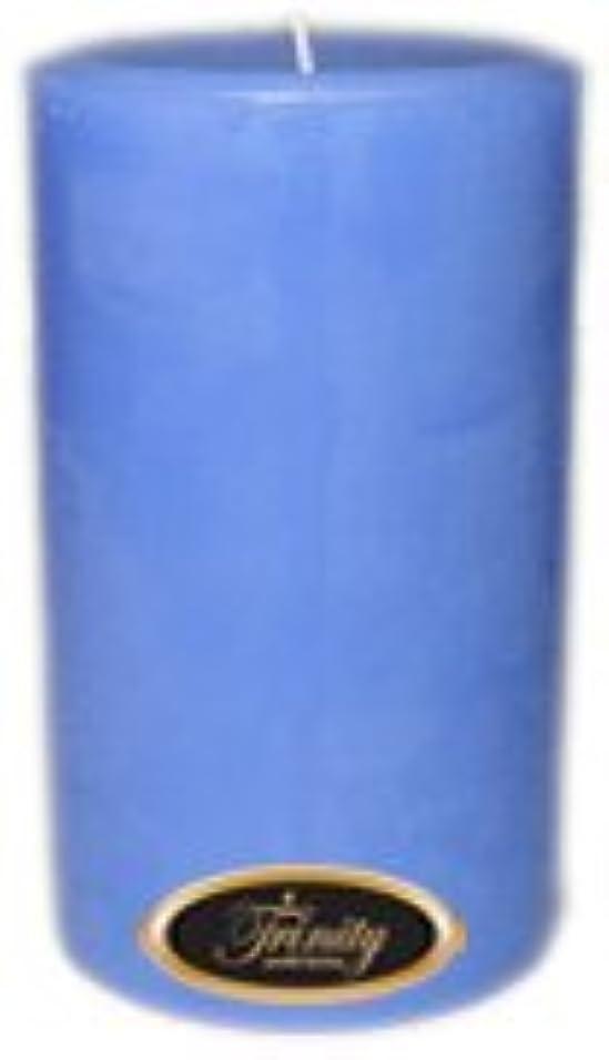 あえぎ円形の誘惑するTrinity Candle工場 – ベビーパウダー – ブルー – Pillar Candle – 4 x 6