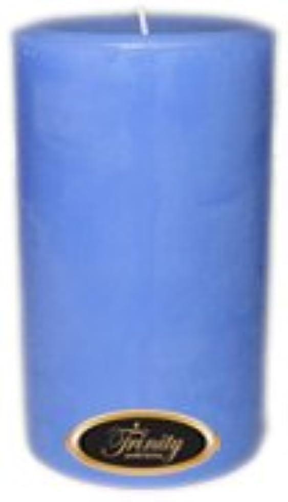 社会主義手書き海軍Trinity Candle工場 – ベビーパウダー – ブルー – Pillar Candle – 4 x 6