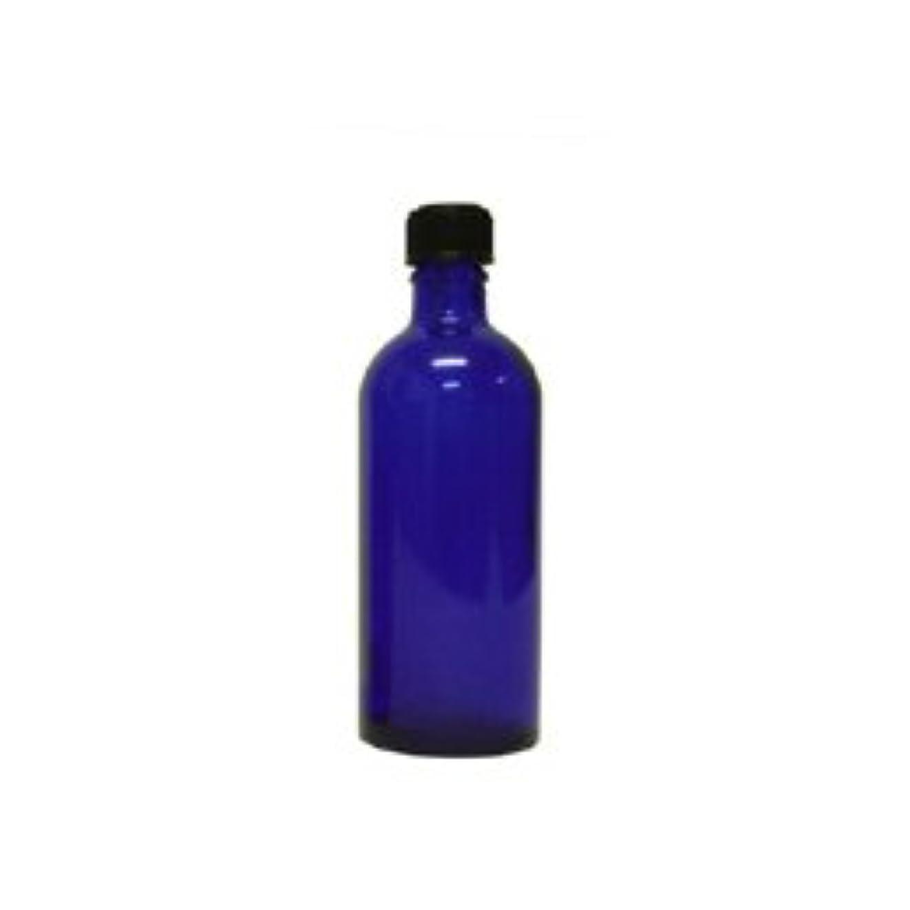 補助外交文明化青色遮光ビン 100ml (ドロッパー付)