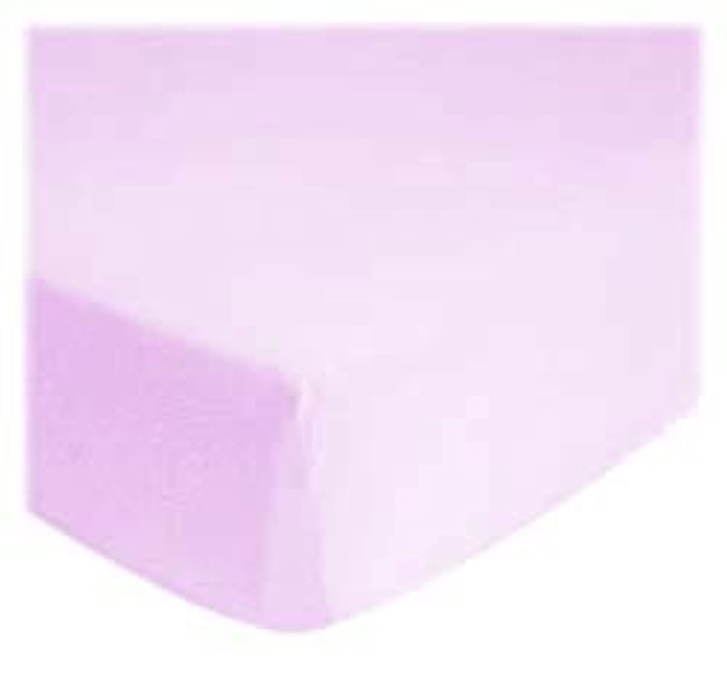 SheetWorld Fitted Portable / Mini Crib Sheet - Solid Lavender Jersey Knit - Solid Colors by sheetworld