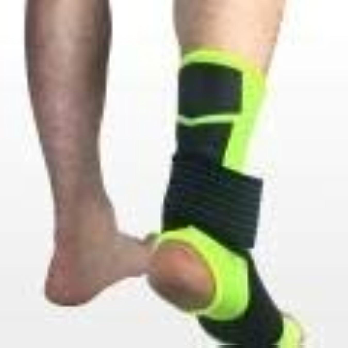 大きさファイバ腹痛スポーツ足首装具圧縮サポートスリーブw/無料足首ストラップアキレス腱サポート、靭帯損傷の足首サポート (Color : B, Size : L)