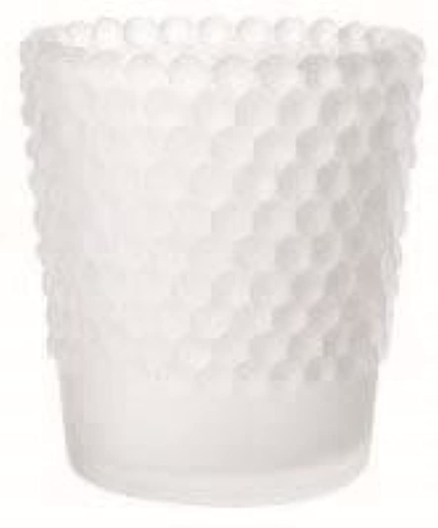 精度アルネ封筒カメヤマキャンドル(kameyama candle) ホビネルグラス 「 フロストホワイト 」6個セット