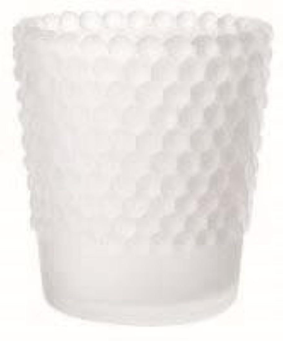 うぬぼれた流産涙が出るカメヤマキャンドル(kameyama candle) ホビネルグラス 「 フロストホワイト 」6個セット