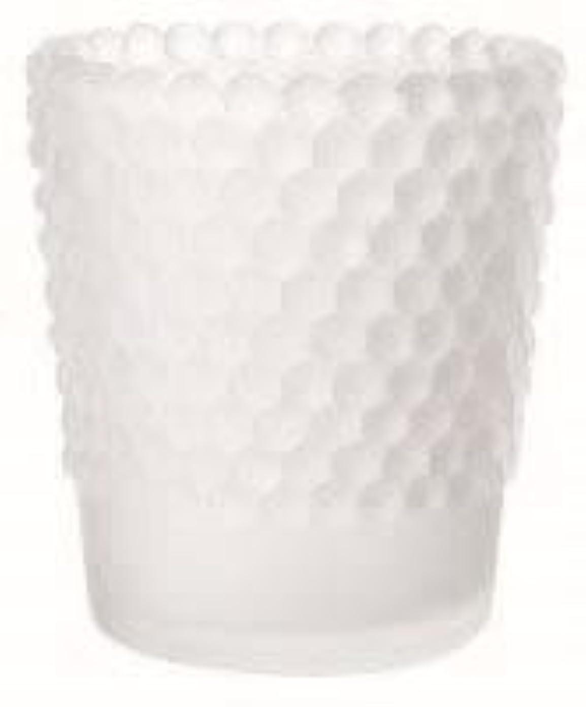 ペンフレンド簡略化するメルボルンカメヤマキャンドル(kameyama candle) ホビネルグラス 「 フロストホワイト 」6個セット