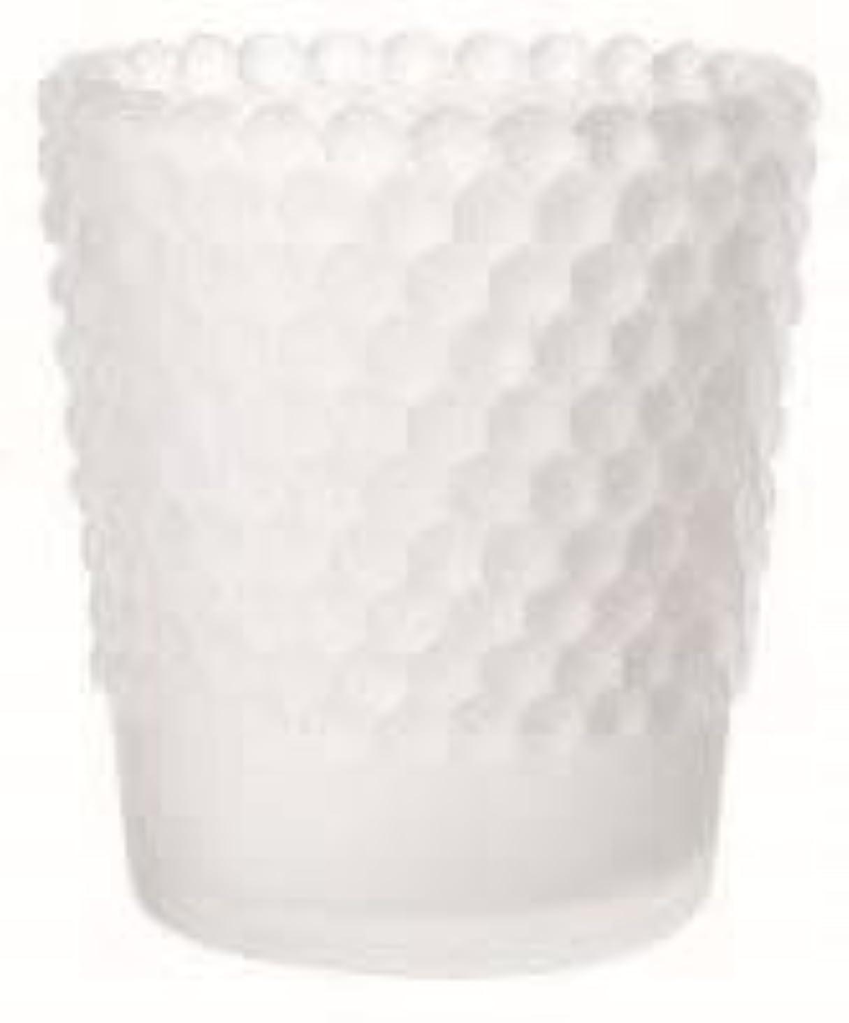 日付遷移犠牲カメヤマキャンドル(kameyama candle) ホビネルグラス 「 フロストホワイト 」6個セット