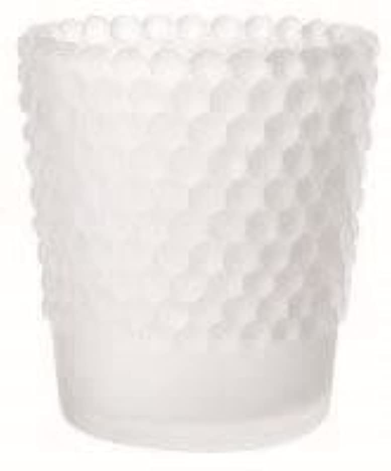 ボイコット熱剪断カメヤマキャンドル(kameyama candle) ホビネルグラス 「 フロストホワイト 」6個セット
