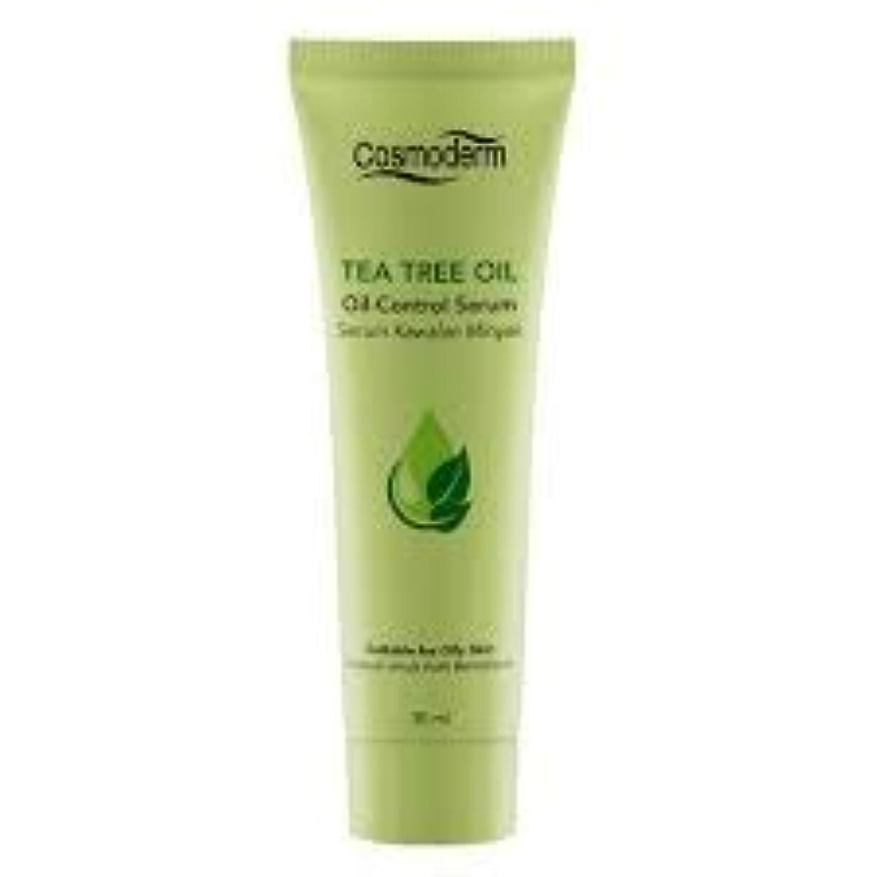樹木昼食反抗COSMODERM ティーツリーオイルコントロールセラム30ml - 吹き出物、にきびやにきびを削減します。毛穴の邪魔を除く、石油生産を制御します。肌の自然な水分を復元します。