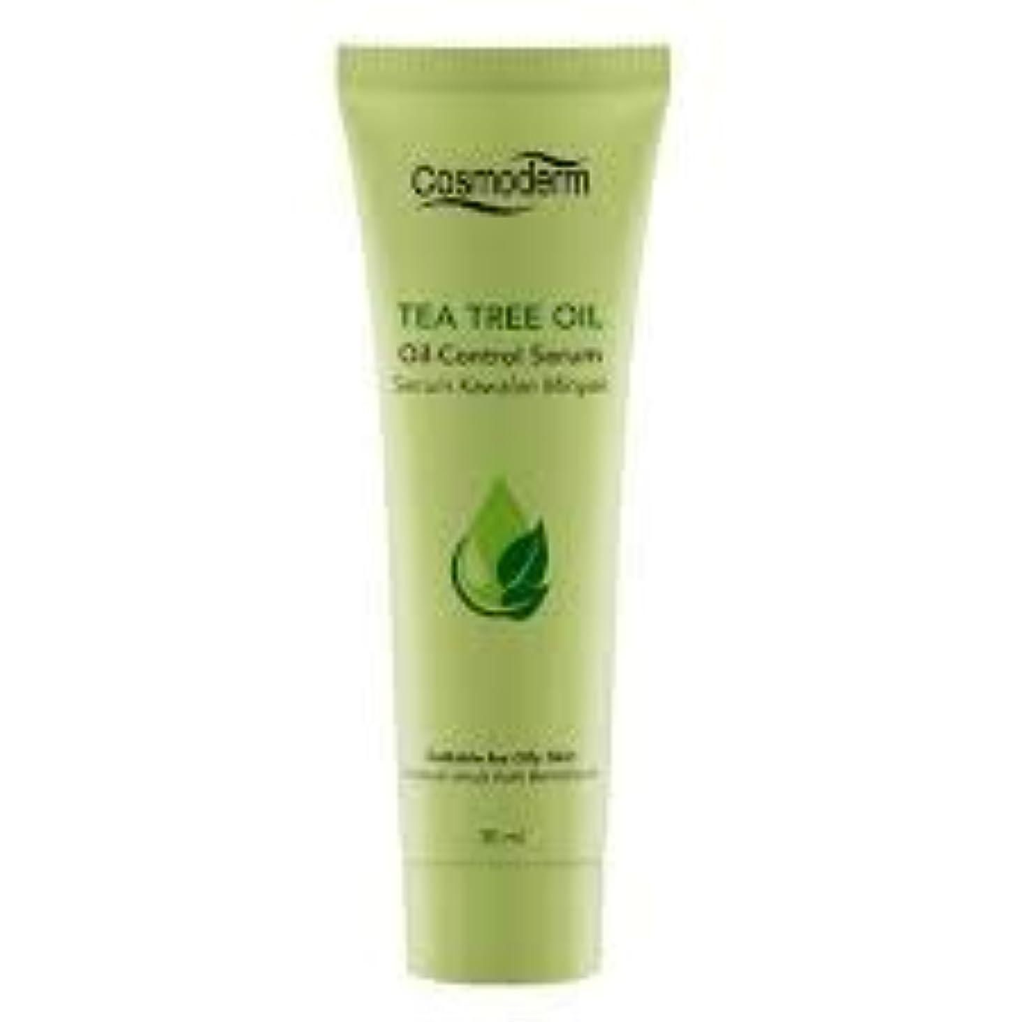 解決する率直な減少COSMODERM ティーツリーオイルコントロールセラム30ml - 吹き出物、にきびやにきびを削減します。毛穴の邪魔を除く、石油生産を制御します。肌の自然な水分を復元します。