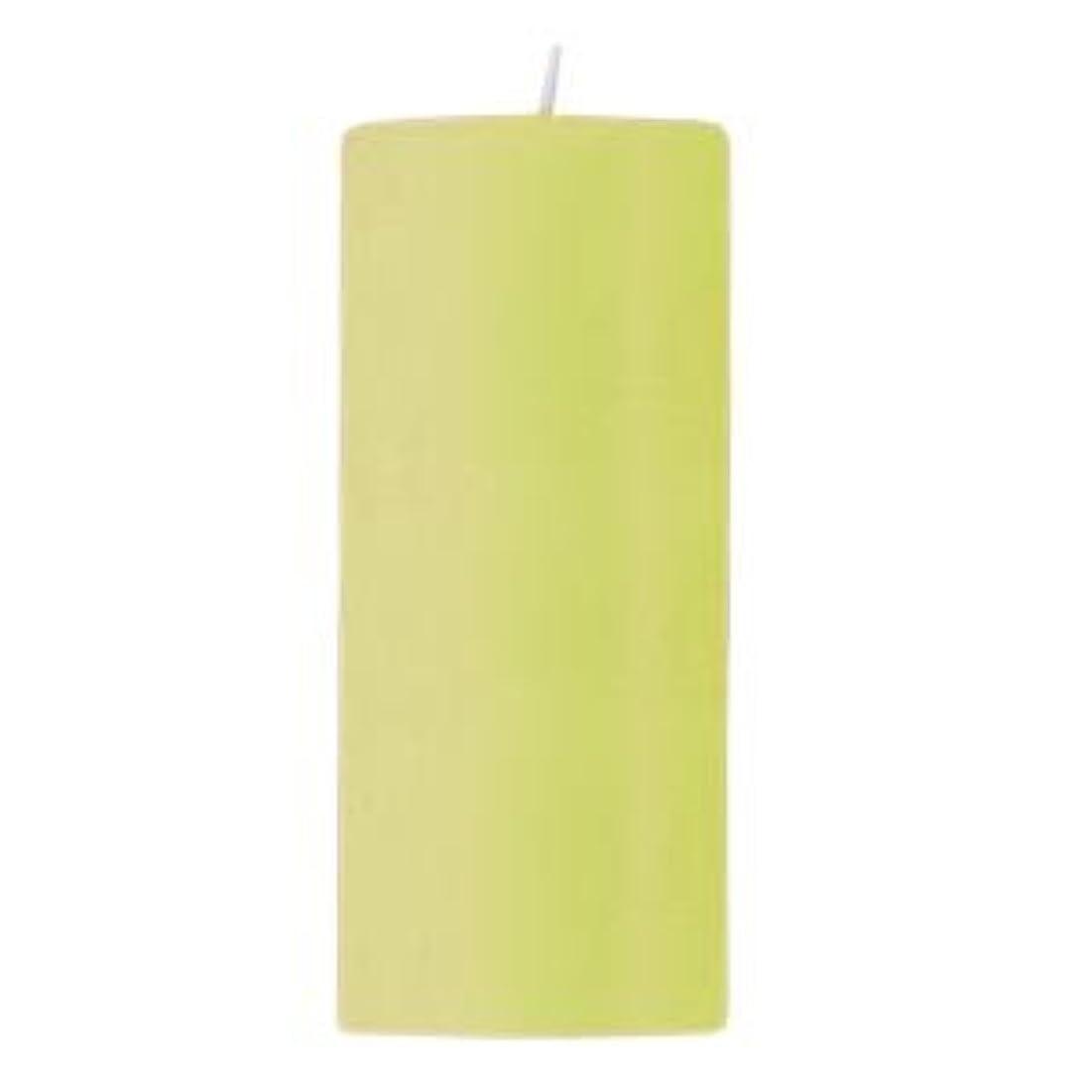 圧縮する位置づける謙虚キャンドル 2?3/4 ×6  ラウンド ライトグリーン