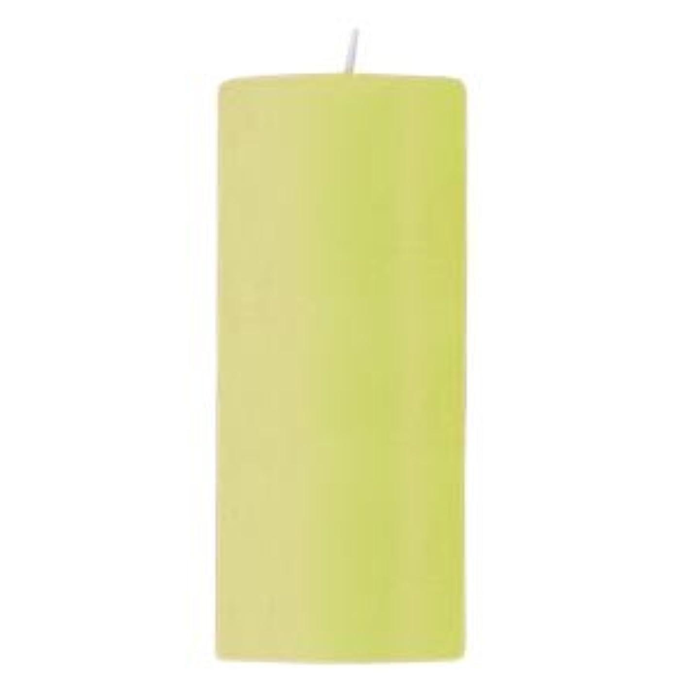 酸度土器スリムキャンドル 2?3/4 ×6  ラウンド ライトグリーン
