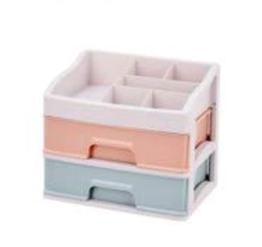 化粧品収納ボックス引き出しデスクトップ収納ラック化粧台化粧品ケーススキンケア製品 (Size : M)