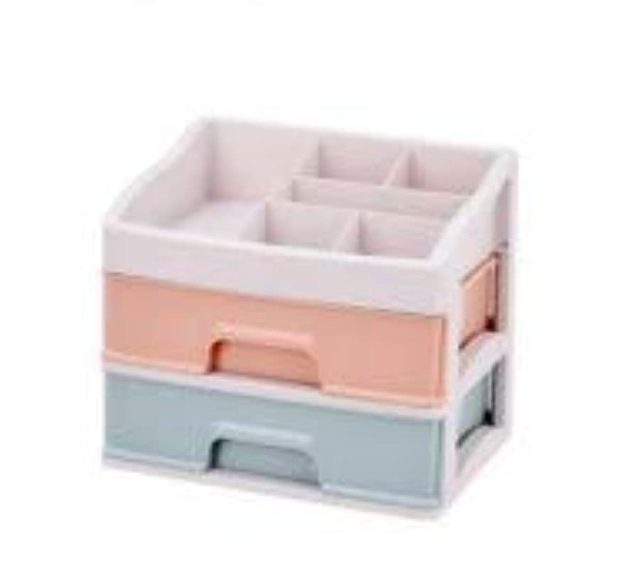 パウダー知恵クスコ化粧品収納ボックス引き出しデスクトップ収納ラック化粧台化粧品ケーススキンケア製品 (Size : M)