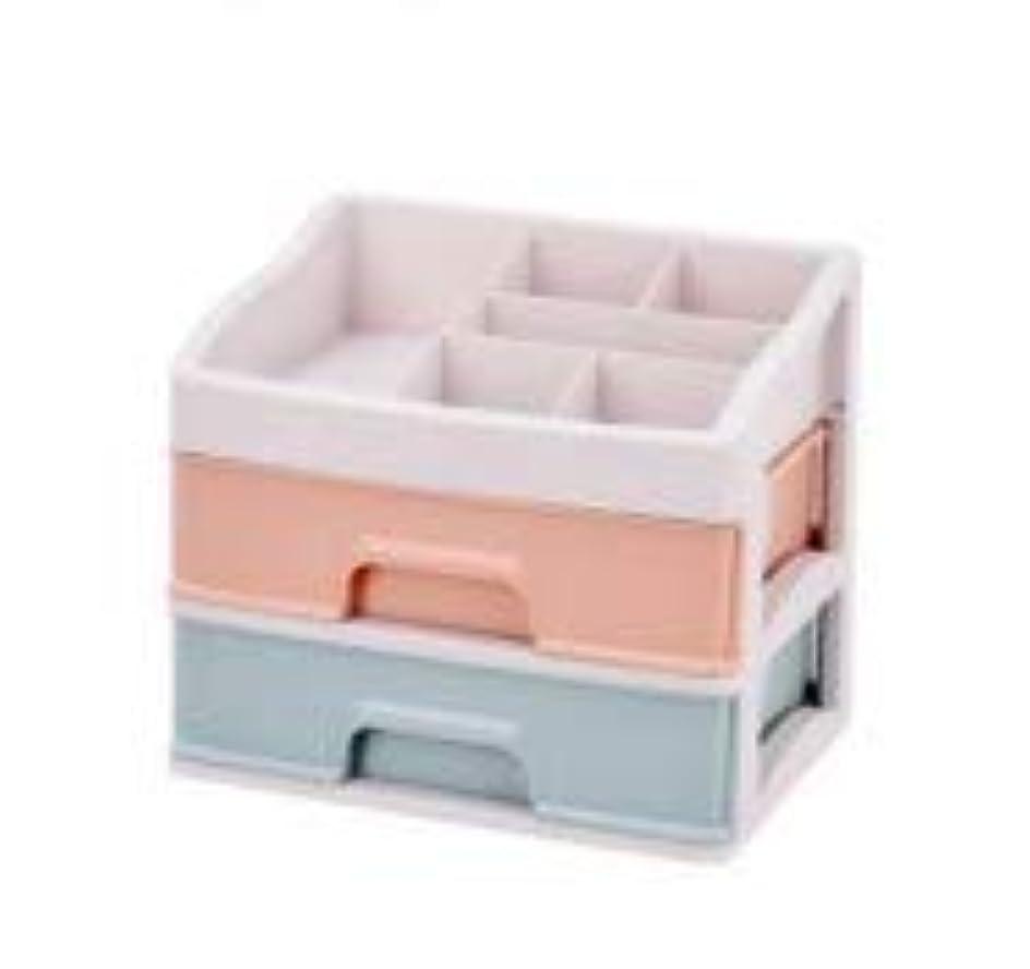 どれでも格差キモい化粧品収納ボックス引き出しデスクトップ収納ラック化粧台化粧品ケーススキンケア製品 (Size : M)