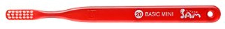 第二先開いた【サンデンタル】サムフレンド ベーシックミニ?ミディアム #20 30本【歯ブラシ】【ふつう】6色入 アソート