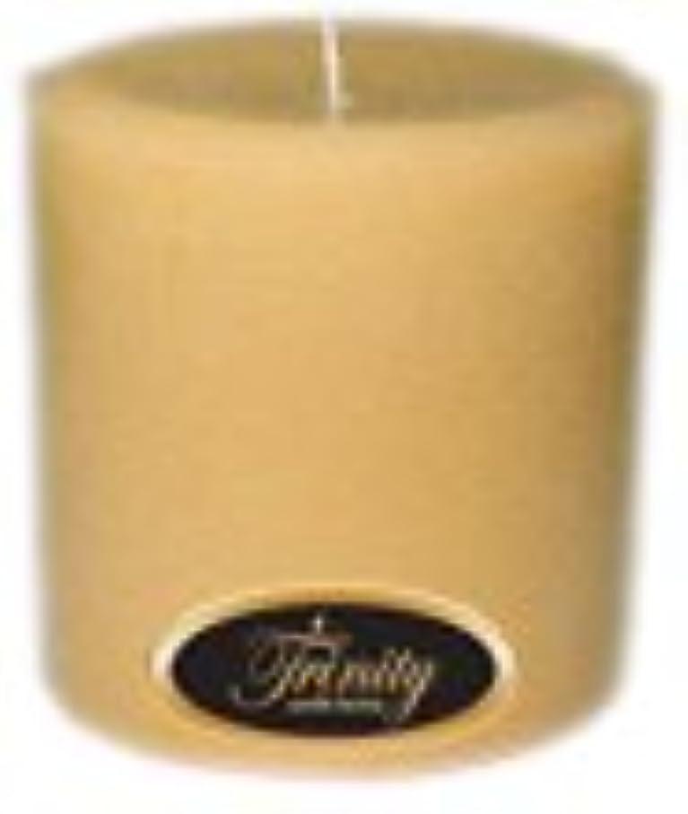 奇妙な気楽な留め金Trinity Candle工場 – レザー – Pillar Candle – 4 x 4