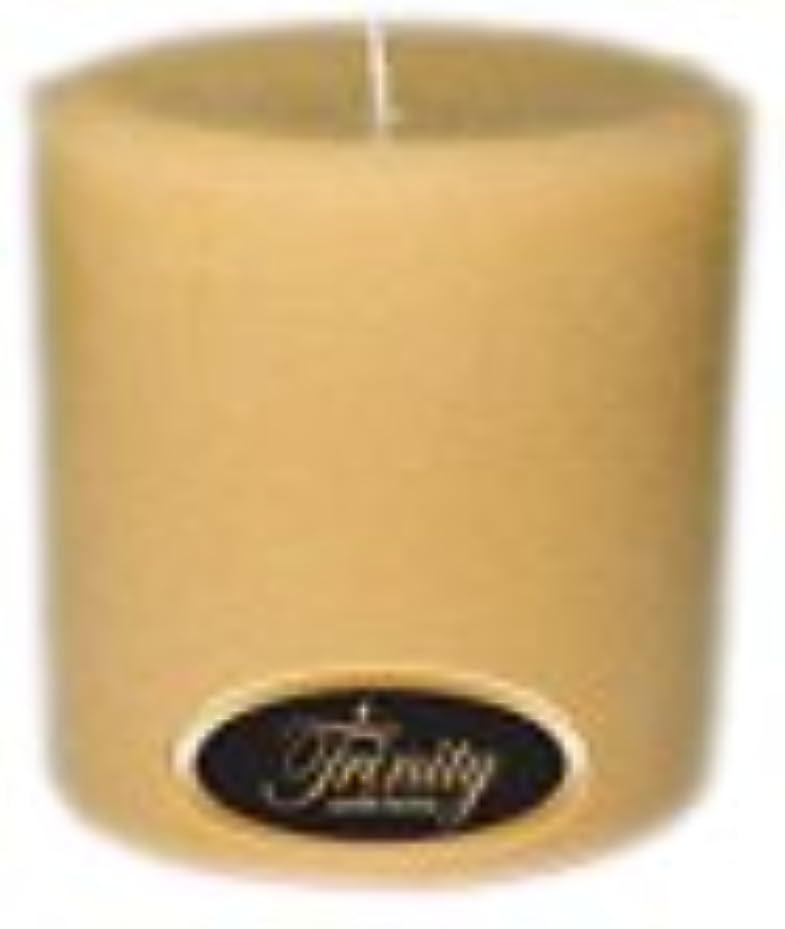 支配する見積りページェントTrinity Candle工場 – レザー – Pillar Candle – 4 x 4