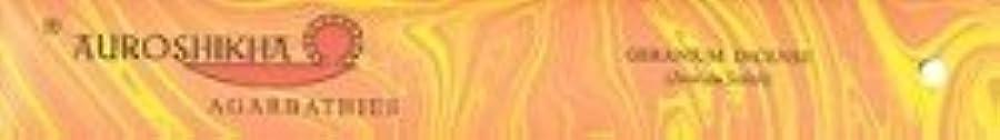 春わかりやすい鉛Auroshikha Incense Geranium [並行輸入品]