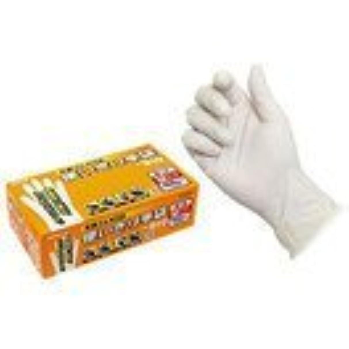月面水素広告主エステー 天然ゴム使いきり手袋(粉つき) 100枚入x12箱 NO.910 M
