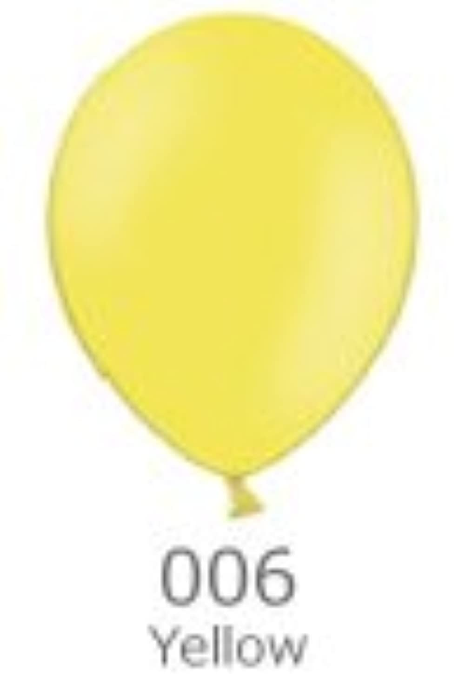 5インチ ゴム風船 20個入 パステル Yellow(イエロー) ベルバルバルーン 天然ゴム100%