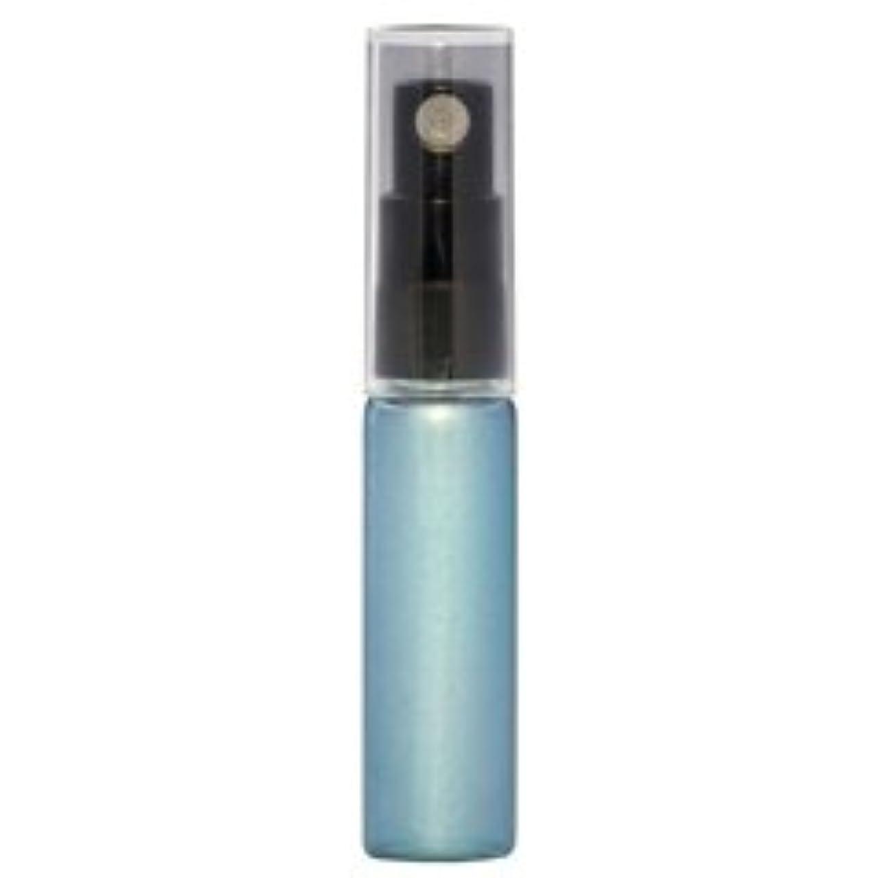 共和党ヨーロッパクリーナー【ヒロセ アトマイザー】メンズ メタリック ガラスアトマイザー ブラックプラスチックポンプ 57173 (メンズメタリック ブルー) 5ml