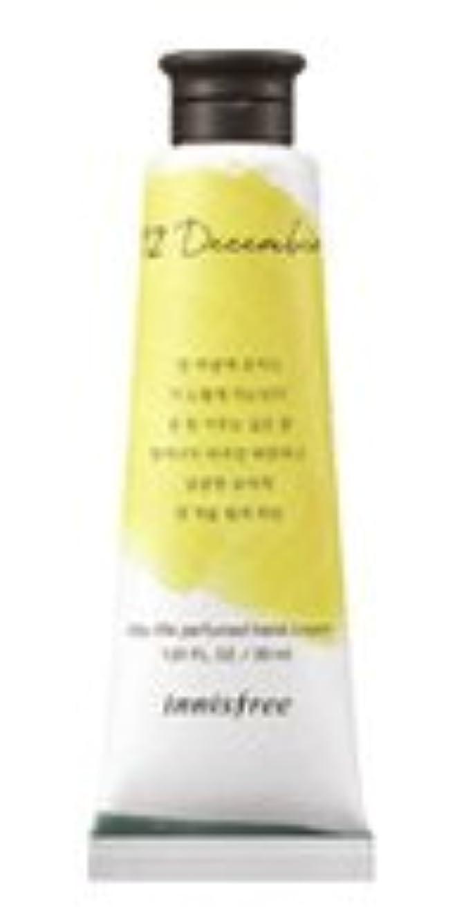 誓うバウンド紛争Innisfree Jeju life Perfumed Hand Cream (12月 真夜中の柚子茶) / イニスフリー 済州ライフ パフューム ハンドクリーム 30ml [並行輸入品]