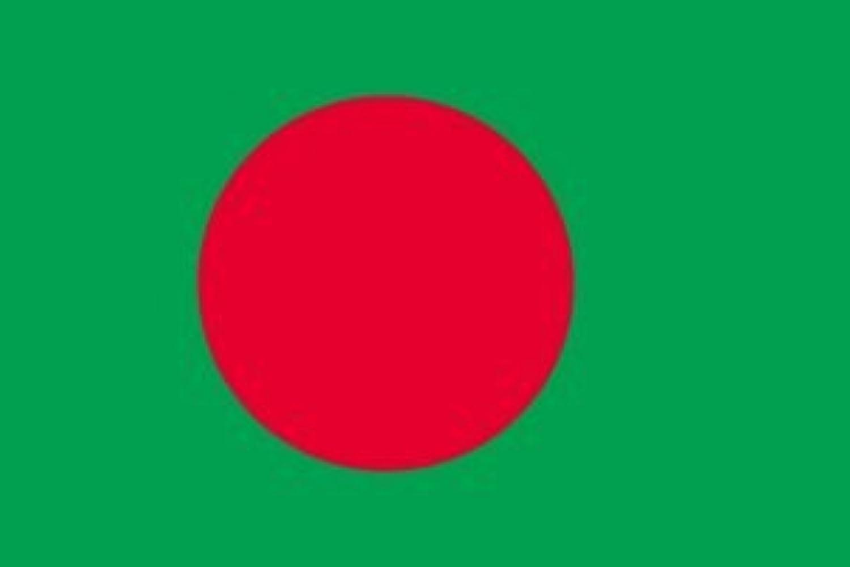 世界の国旗 バングラディシュ 国旗 ポータブルフラッグ [ 25×37.5cm ポール付き手旗 高級テトロン製 ]