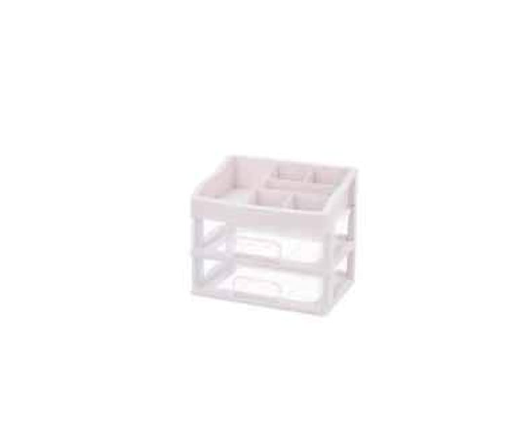 広く増幅器ナビゲーション化粧品収納ボックス透明引き出しタイプデスクトップ収納ラック化粧台化粧品ケーススキンケア用品 (Size : M)