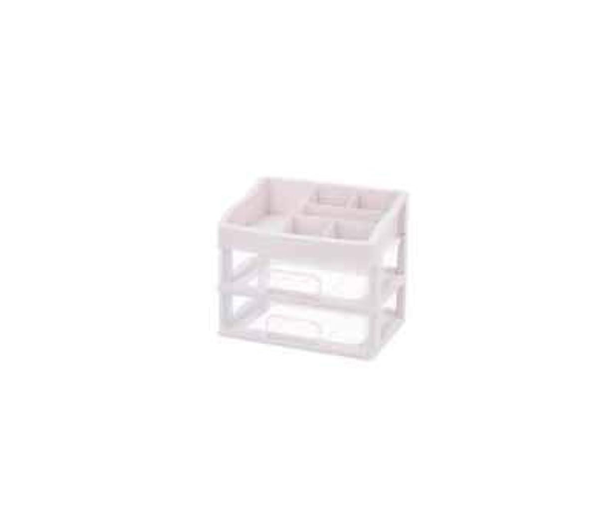 トラップ反発するボール化粧品収納ボックス透明引き出しタイプデスクトップ収納ラック化粧台化粧品ケーススキンケア用品 (Size : M)