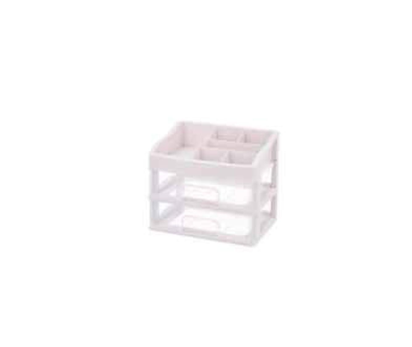 堀囲いひそかに化粧品収納ボックス透明引き出しタイプデスクトップ収納ラック化粧台化粧品ケーススキンケア用品 (Size : M)