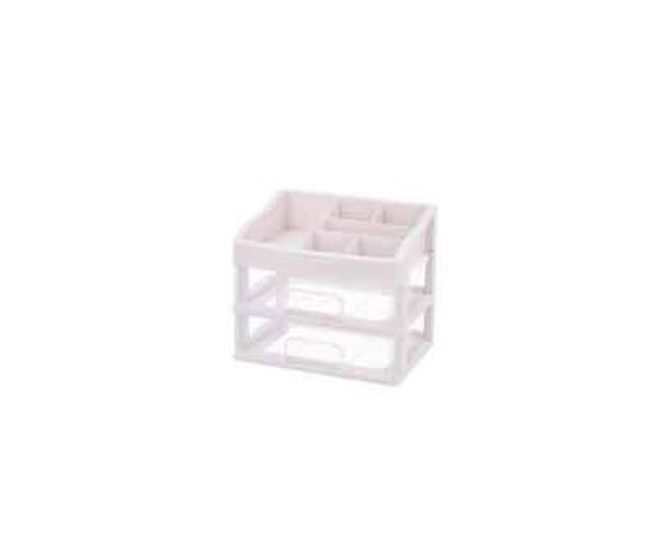 嵐の傾向がある法的化粧品収納ボックス透明引き出しタイプデスクトップ収納ラック化粧台化粧品ケーススキンケア用品 (Size : M)