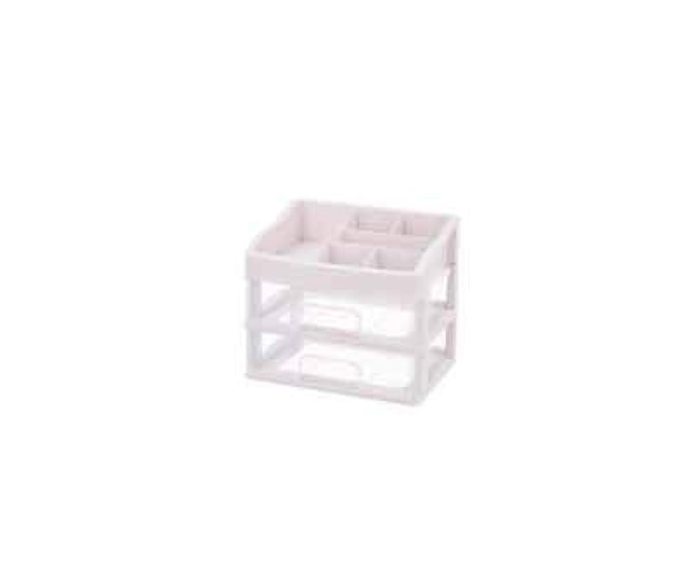 スキャンダル定期的ラフ化粧品収納ボックス透明引き出しタイプデスクトップ収納ラック化粧台化粧品ケーススキンケア用品 (Size : M)