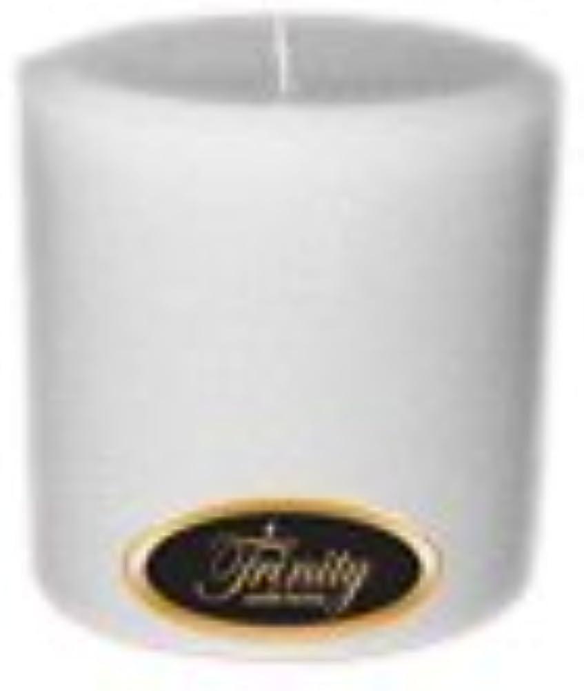 長方形オーバーラン船尾Trinity Candle工場 – Magnolia – Pillar Candle – 4 x 4