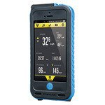 TOPEAK(トピーク) ウェザー プルーフ ライドケース(パワーパック内蔵)セット iPhone5/5S専用 ブルー