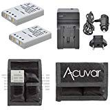 2en-el5充電式電池+車/ホーム充電器+ acuvarバッテリーポーチfor Nikon Coolpix 3700、4200、5200、5900、7900、p3、p4、p530、他モデル