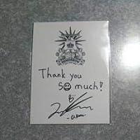 [東方神起]●TOMORROW●メンバーメッセージ&サイン入りレシート風ステッカー●ユノ