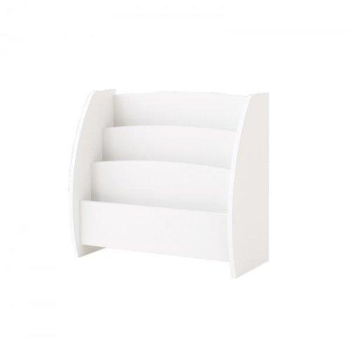 《完成品》シンプルキッズ収納家具【CREA】クレアシリーズ【絵本ラック】幅65cm (ホワイト)