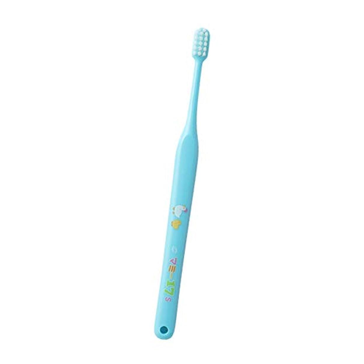 例感じスピーカーオーラルケア マミー17歯ブラシ 1本 (ソフト(S)ブルー)