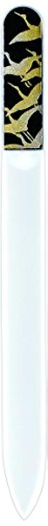 ホームレス無一文からに変化する橋本漆芸 ブラジェク製高級爪ヤスリ 千羽鶴 紙箱