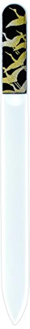 意識的コピーブローホール橋本漆芸 ブラジェク製高級爪ヤスリ 千羽鶴 紙箱