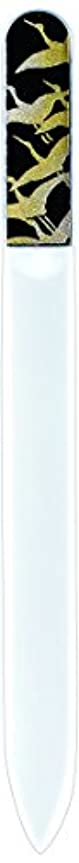 磁器爆風統計橋本漆芸 ブラジェク製高級爪ヤスリ 千羽鶴 紙箱