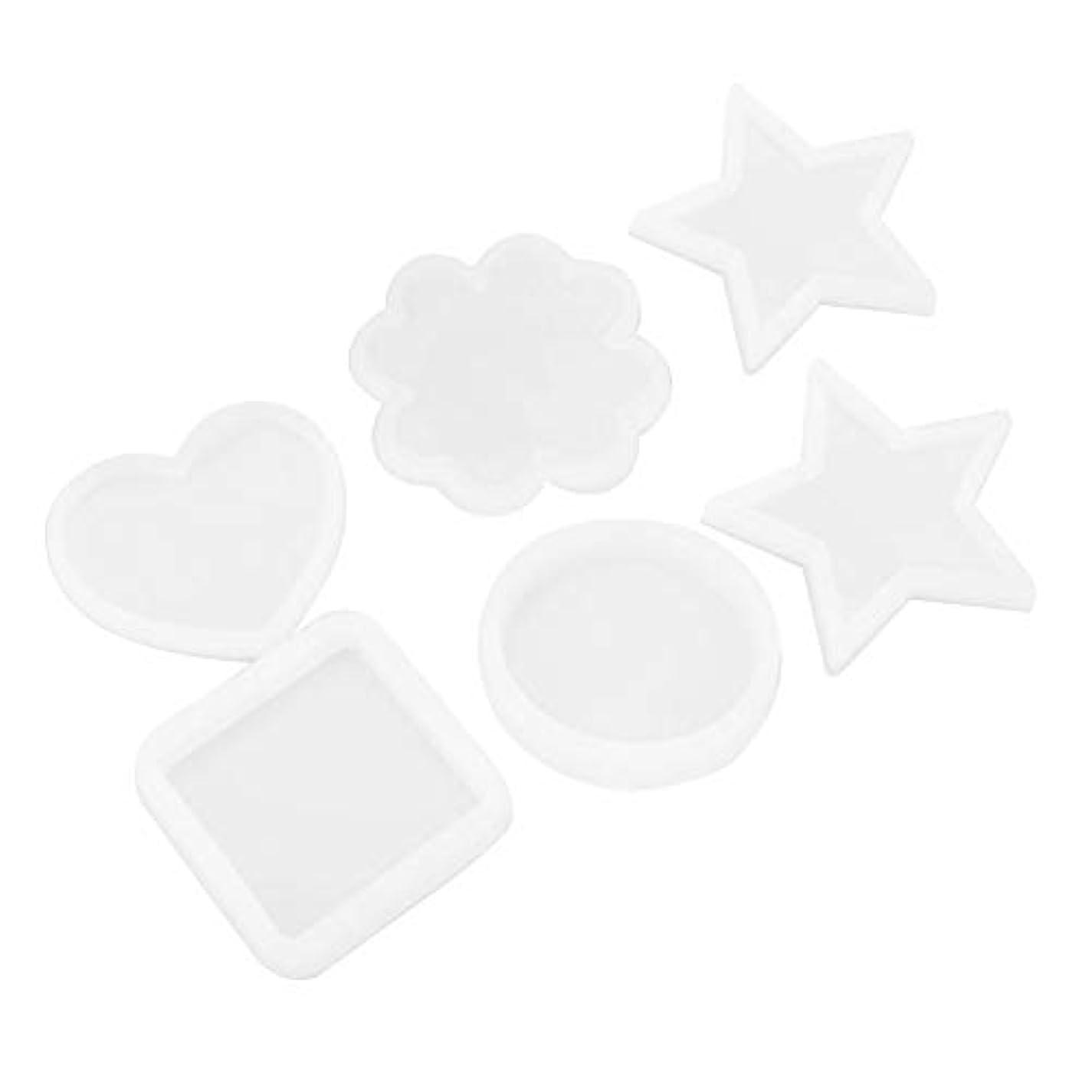 幻影ブレークサラミ6種類のサークルスクエアハート星形アートデコルティブシリコンモールドケーキデコレーションチョコレートモールドセットDIY