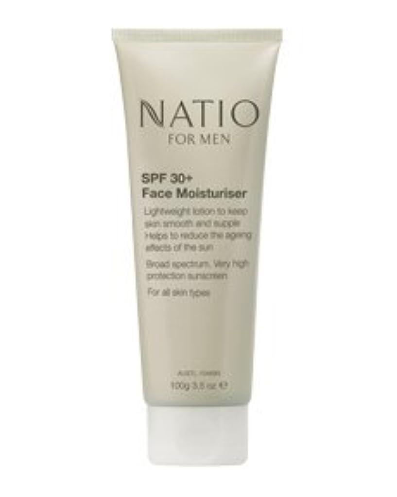 サイバースペース完全に巻き戻す【NATIO FOR MEN SPF 30+ Face Moisturiser】 ナティオ  SPF 30+ フェイス モイスチャライザー [海外直送品]