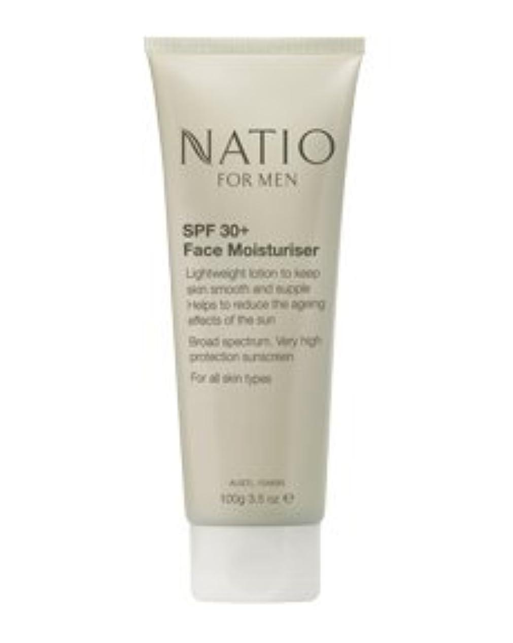 学習者コイルシルク【NATIO FOR MEN SPF 30+ Face Moisturiser】 ナティオ  SPF 30+ フェイス モイスチャライザー [海外直送品]