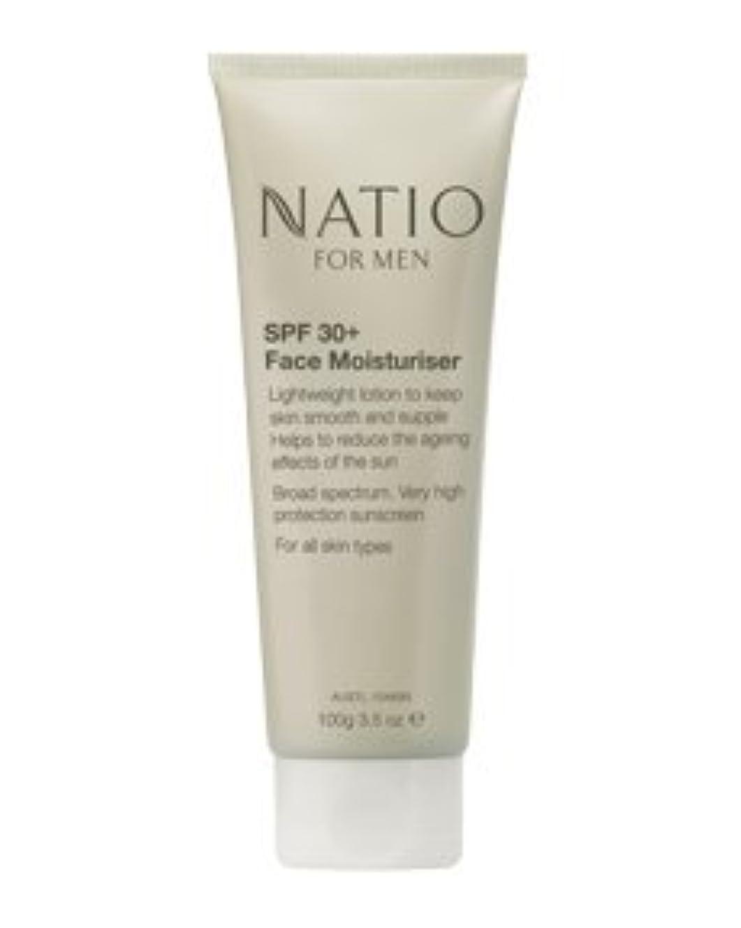 提唱する適応銛【NATIO FOR MEN SPF 30+ Face Moisturiser】 ナティオ  SPF 30+ フェイス モイスチャライザー [海外直送品]