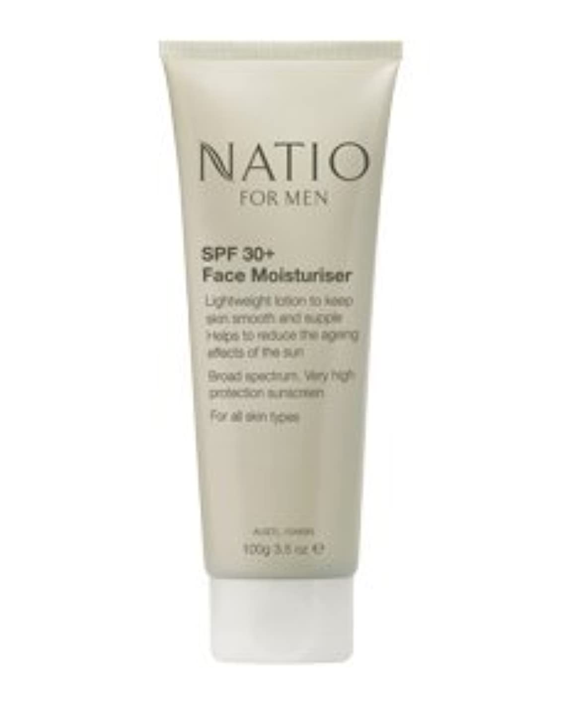 百単なる内部【NATIO FOR MEN SPF 30+ Face Moisturiser】 ナティオ  SPF 30+ フェイス モイスチャライザー [海外直送品]