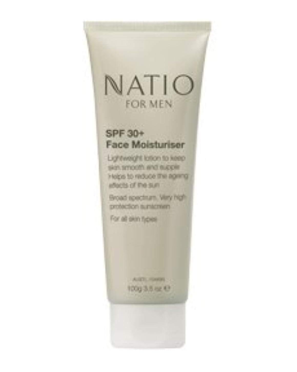 狭い海岸広げる【NATIO FOR MEN SPF 30+ Face Moisturiser】 ナティオ  SPF 30+ フェイス モイスチャライザー [海外直送品]