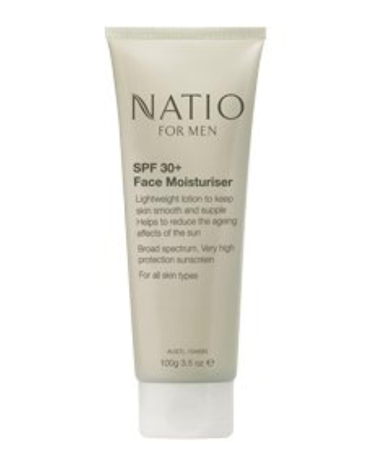 スリッパ含むパーセント【NATIO FOR MEN SPF 30+ Face Moisturiser】 ナティオ  SPF 30+ フェイス モイスチャライザー [海外直送品]