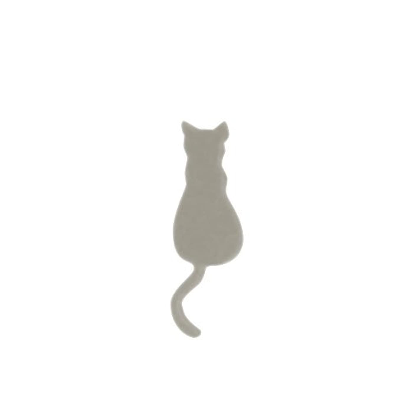 つかまえるヘビーに対してリトルプリティー ネイルアートパーツ 猫4 シルバー 10個